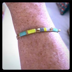 Stella & dot gold bracelet teal jewelry accessorie